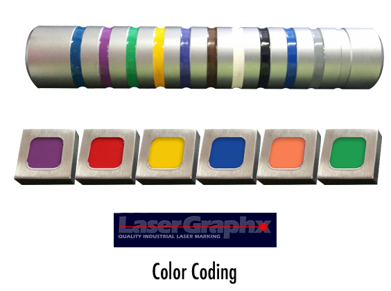 Specialty instrument and tool color coding service.